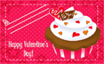 Cupcake School Valentines Cards (5 cards per page)